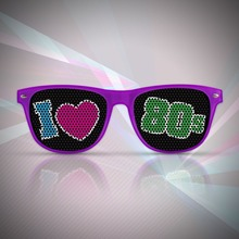 48pcs/lot Mix Color Retro Party 80's Theme Sunglasses Photo Booth Props Totally 80's Novelty Sunglasses Party Favor for Adult(China)