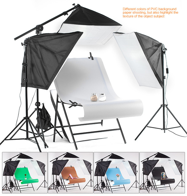 Table Photo 60100cm Folding Portable Shooting Photography Photo Studio Tabletop For Product Shoot Screen+White PVC Backdrops (9)