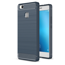 Hybrid Super armor case for huawei p9 plus Carbon Fiber Texture Brushed Silicone Cover phone case for huawei G9 p9 lite HC107