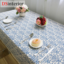 DSinterior Classic Cotton linen lace tablecloth for home table cloth cushion cover custom made