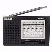 Tecsun R-909TV Radio Portable FM/AM/VHF 4 Band Radio Receiver 56-108MHz Speaker Black Broadcasting Wireless R909TV Y4156A(China)