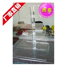 Exquisite clear acrylic cake tower/Acrylic 6 Tier square Cupcakes Stand with Great quality for various use purpose decoration