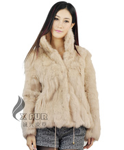 CX-G-A-10E 2017 Hot Selling New Design Genuine Rabbit Fur Jacket ~Wholesale Retain OEM From China(China)
