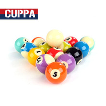 Cuppa Crystal Pool Ball Set 57mm Size 16 Colors Billiards Accessories China 2017