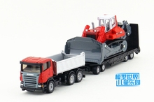 Brand New SIKU 1/87 Scale Dump Truck With Trailer and Compact Exavator Diecast Metal Car Model Toy For Gift/Kids/Christmas