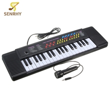 37 Key Keyboard Electronic Digital Piano With EU Plug Electric Musical Instruments For Beginner Toy Gift With Microphone