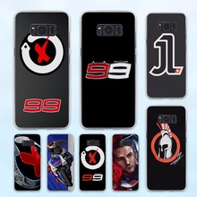 jorge lorenzo lorenzo 99 Logo red X design hard transparent Case for Samsung Galaxy S8 S6 S7 edge S8 Plus s5 note 5 4