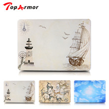 TopArmor Sailboat Ultra Thin Light Weight Pattern Laptop Hard Case Shell Cover for Apple Macbook Air 13.3 inch / 11 / 15 inch