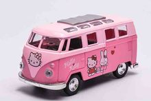 Toy Bus Model 1:32 Diecast Alloy Bus  Boys and Girls Gift Metal Toys with Openable Doors, Pull Back Bus