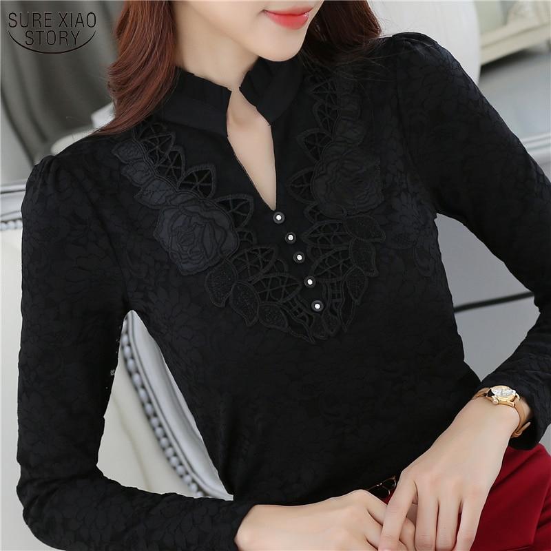 2017  new arrival autumn and winter office lady  shirt female  collar velvet blouse women  long-sleeved blouse slim tops D20 30