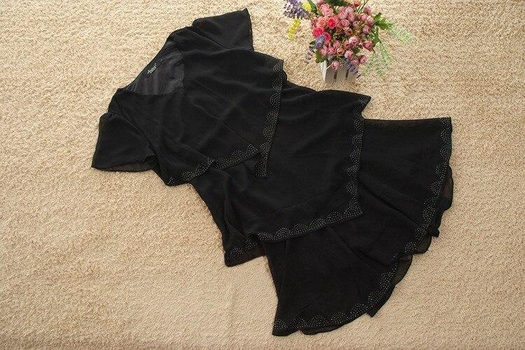 Vestido De Festa Summer Dresses 5XL Plus Size Women Clothing ropa mujer 18 Chiffon Dress Party Short Sleeve Casual Blue Black 23