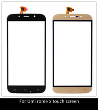 Original ROME X Touch Screen Touch Panel Glass For UMI ROME ROME X Cell phone 5.5 Inch Phone Repair Free ship + tracking numbe