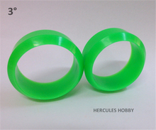 4pcs Three Degree RC Drift Tires for Cars 1/10 Hex 12mm Green