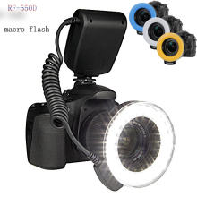 High Quality 48pcs Macro LED Ring Flash Bundle with 8 Adapter Ring for Canon Nikon Pentax Olympus Panasonic DSLR Camera  RF-550D