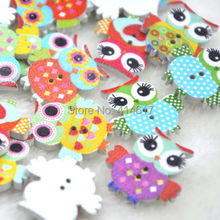 10/50/100pc Mix Color Baby Owl Birds Button Carton Baby Sewing Craft WB349