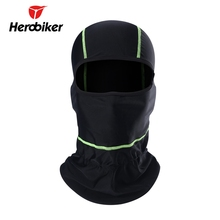 HEROBIKER Men's Motorcycle Face Mask Outdoor Sport Quick-Drying Breathable Anti UV Soft Face Mask Black female mask(China)
