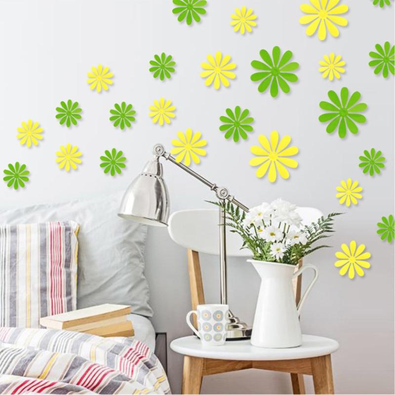 Popular White Flower DecalsBuy Cheap White Flower Decals Lots - Yellow flower wall decals