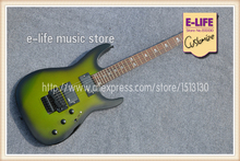 Latest Arrival ESP Custom Shop Guitar Black Floyd Rose Tremolo Skull Inlay China Musical Instruments(China)