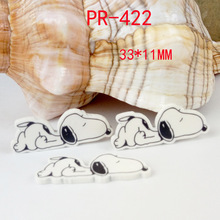 Cartoon patch kawaii glasses dog Figurine crafts flat back planar resin DIY headwear hair Bow accessories refrigerator