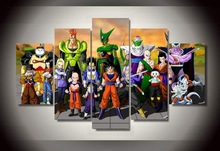5 Piece canvas art Cartoon dragon ball Group Painting wall art Decoration for home print film poster canvas Art Picture no frame