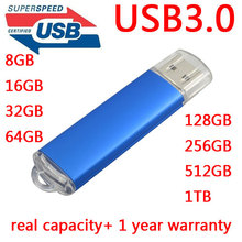 High Speed Black Blue Memoria USB Flash Drive 64GB USB 3.0 Pen Drive 16GB 64GB 32GB Memory Stick Hard Disk On Key 512GB 128GB