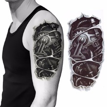New Arrival 3D Removable Tattoo Waterproof Robot Arm Temporary Tattoo Stickers Body Art for Men