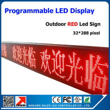 P10 led sign outdoor 32*288 dots led programmable display sign board outdoor waterproof advertising led screen red color