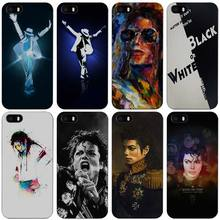 Michael Jackson Black Plastic Case Cover Shell for iPhone Apple 4 4s 5 5s SE 5c 6 6s 7 Plus
