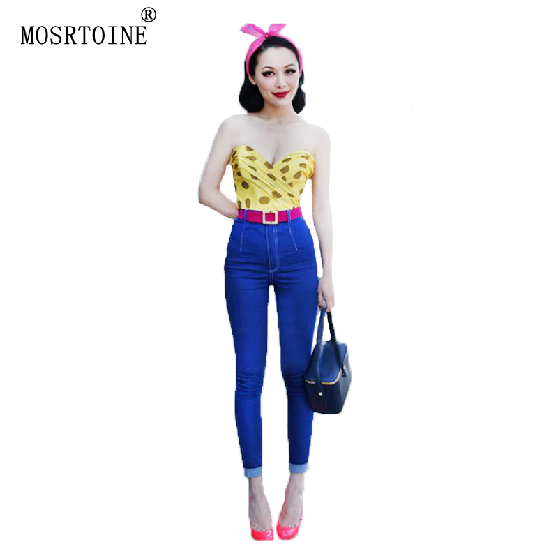 MOSRTOINE Women Pencil Jeans Autumn 2017 Spring Pleated Light Washed Skinny Soft With Zipper And Botton Women Pencil Jeans NewОдежда и ак�е��уары<br><br><br>Aliexpress