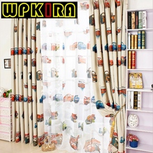 Window Curtain for Living Room Screening Boys Girls Cartoon Sheer Children Brand Curtain Sheer Child Car Curtain for Bedroom 228