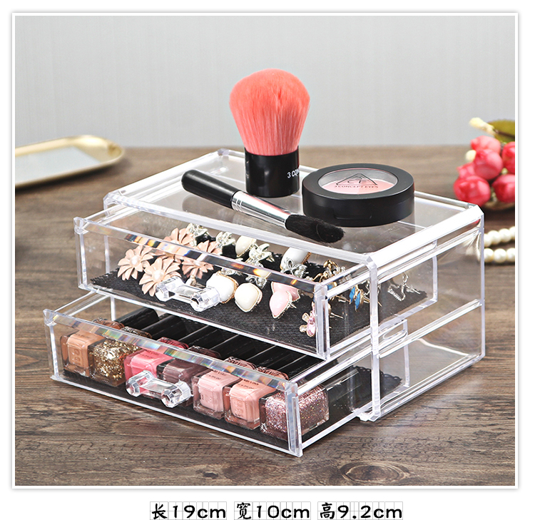 Organizador Hot Sale 2017 Acrylic Makeup Organizer Rangement Maquillage Crystal of Cosmetics Included In The of Home Storage (25)