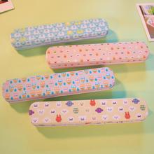Cute Animal Owl Flowers Floral Series Iron Metal Pencil Case For Pen Stationery Storage Box Korea Style Kids Gift(China)