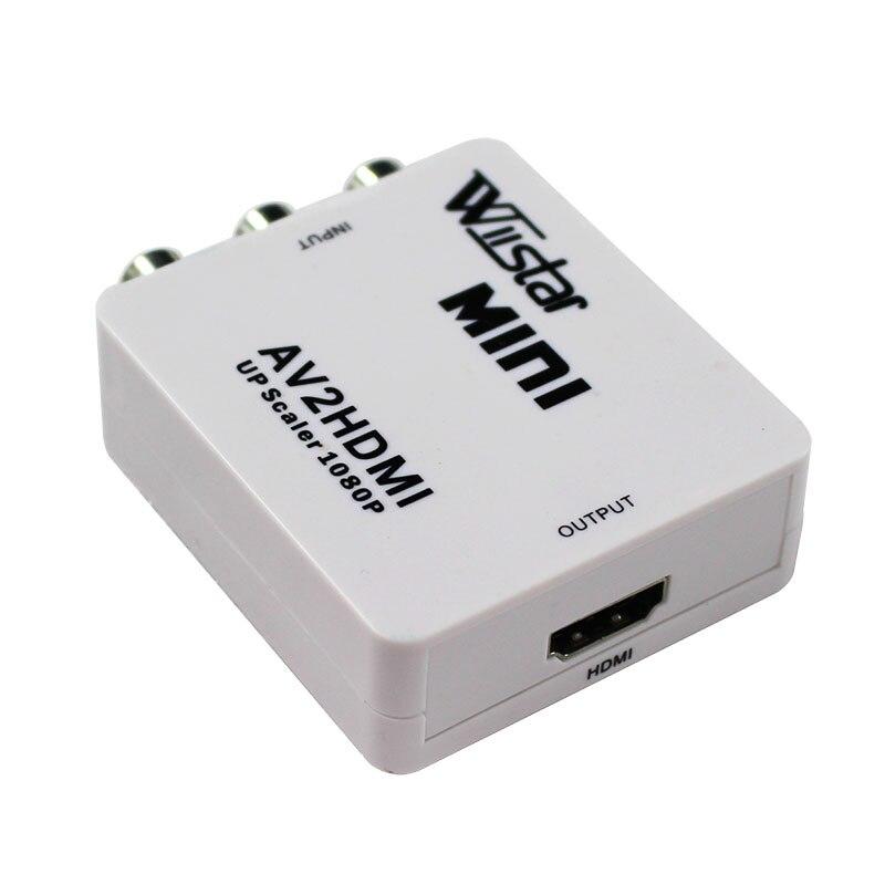 10PCS  RCA AV to HDMI Converter Adapter Mini Composite CVBS to HDMI AV2HDMI Converter in Retail Package 1080P free shipping<br><br>Aliexpress