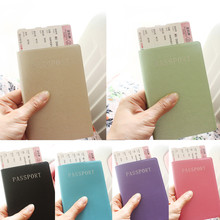 Buy Fashion PU Card Holder Women Travel Waterproof Passport Holder Business Passport Cover ID Credit Card Holder Men Passport Wallet for $1.06 in AliExpress store