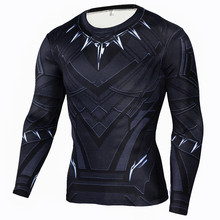 Men's Barry Allen Compression Shirt Crossfit Long Sleeve T-shirt Men The Flash Print Fitness Top Base Supreme Real Shirt Madrid