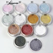 LEARNEVER 13 Colors Professional Fashion Eyeshadow Flash Powder Bright Shining Bright Pearl Glitter Powder Eyeshadow Palette(China)