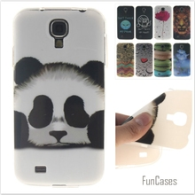 Fashion cute Tiger Lion Pattern soft silicone cover TPU phone Cases for Samsung Galaxy S4 i9500 Flower Cartoon Coque Fundas Capa