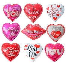 5pcs/lot I LOVE YOU Foil Balloons Valentine day Wedding Balloon Decorations Party Supplies Heart shape Love Foil Balloons Globos(China)