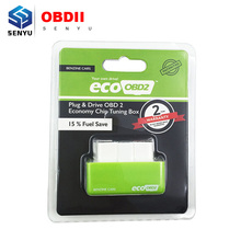 Promotional sale EcoOBD2 Benzine Car Chip Tuning Box Plug and Drive OBD2 Chip Tuning Box Lower 15% Fuel save and Lower Emission