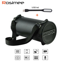 Rosimee Bike Car music Wireless Bluetooth Speakers 89mm Big Bass Outdoor Portable Subwoofer Speaker with FM PK Bluedio BS-3(China)