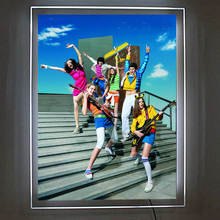 (Pack/5units) 90x40cm Single Sided Wall Mounted LED Art Hanging Systems Light Pocket,Illuminated Poster Display Frames(China)