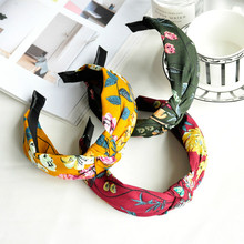 Buy Korean sweet hair headdress all-match knotted fabric wide headband simple Korean head hoop card Charm hair accessories for $1.42 in AliExpress store
