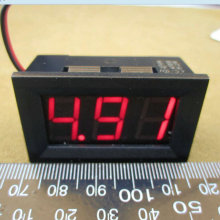 10pc 0.56inch LCD DC 4.5-30V Red Blue Green LED Panel Meter Digital Voltmeter with Two-wire Warehouse Free Shipping Dropshipping(China)