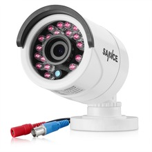 SANNCE CCTV HD 720P 1.0MP White Bullet 1200TVL Camera Security Night Vision IR Cut Camera For Surveillance System