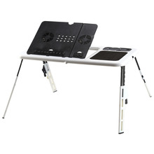 w Portable Folding Laptop Desk Adjustable Computer Table Stand  Foldable Table Cooling Fan Tray For Bed Sofa