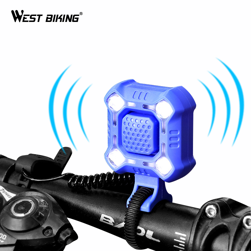 Horn Bell Bicycle Electric Loud Sound USB Rechargeable Bike Alarm Safety Cycling