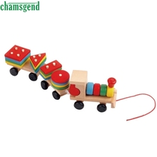 CHAMSGEND Modern Children Toys Developmental Toys Wooden Train Truck Set Geometric Blocks Drop Shipping High Quality WNov7