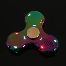 LED Light Bluetooth Speaker Music  Spinner Metal Colorful Bluetooth Music Mini Gyro Children Cool Popular Tri Tools