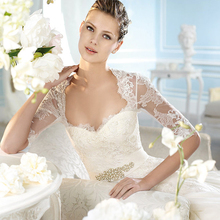 s 2016 new stock plus size women  bridal gown wedding dress French Diamond Eugen Yarn Lace sexy romantic 6006