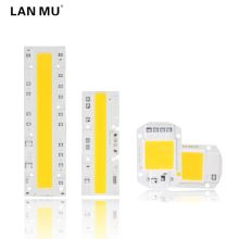 LAN MU COB LED Lamp Chip 110V 220V High Power 10W 20W 30W 50W 70W 100W Input Smart IC No Driver LED Bulb Flood Light Spotlight(China)